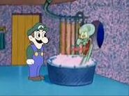 Weegee at squidward's house