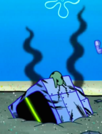 SpongeBob SquarePants Karen the Computer Burnt