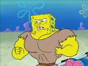 Muscular SpongeBob
