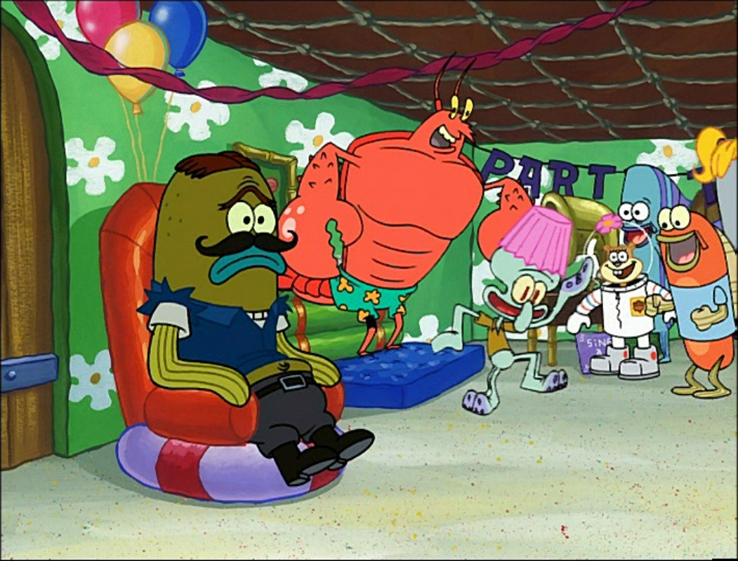 larry the lobstergalleryspongebob meets the strangler