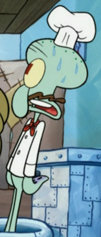 Squidward as a Chef
