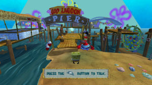Goo Lagoon Pier in Battle for Bikini Bottom