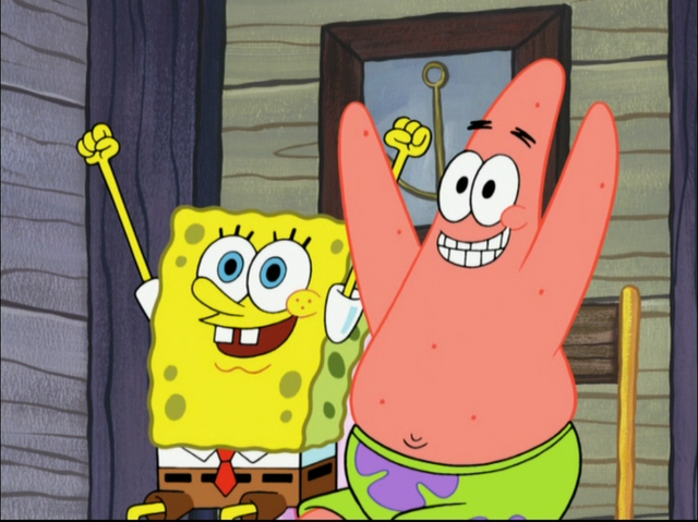 File:SpongeBob and Patrick in Mr. Krabs Takes a Vacation-3.png