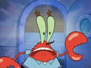 The surprised mr krab