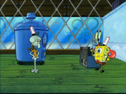 Patty Gadget vs SpongeBob