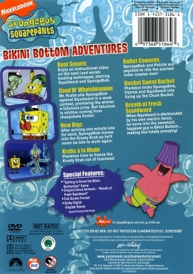 Bikini Bottom Adventures DVD Back Cover