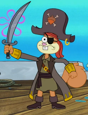Pirate Sandy Cheeks Queen