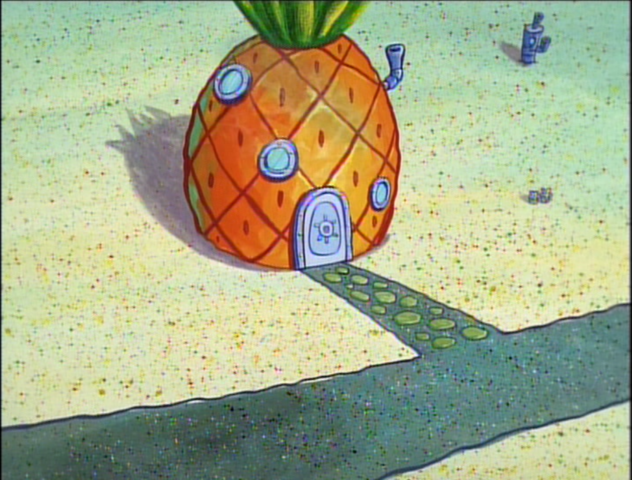 File:SpongeBob's pineapple house in Season 1-3.png