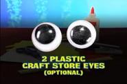 2 Plastic Craft Store Eyes