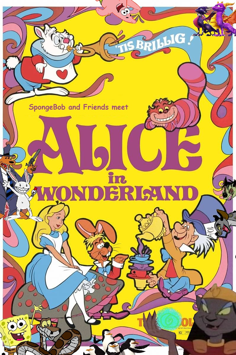 spongebob and friends meet alice in wonderland