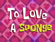 To Love A Sponge title card