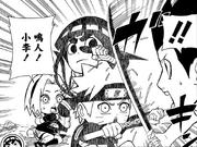 Naruto and Lee defends Sakura