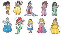 Disney Princess Sprites Pocahontas Snow White Mulan Meg Jasmine Cinderella Ariel Alice Aurora Belle
