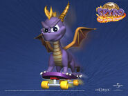 Spyro on a Skateboard Wallpaper