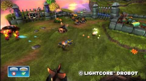 Meet the Skylanders LightCore Drobot