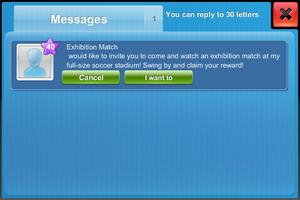 Message exhibition match