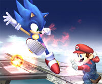 Mario and Sonic in Brawl