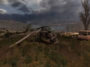 SCS Vehicle graveyard crashed Mi24