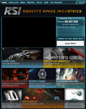 RSI website screenshot