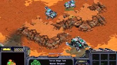 Starcraft Brood War - Terran Campaign Mission 4 - Assault on Korhal Walkthough Lets Play