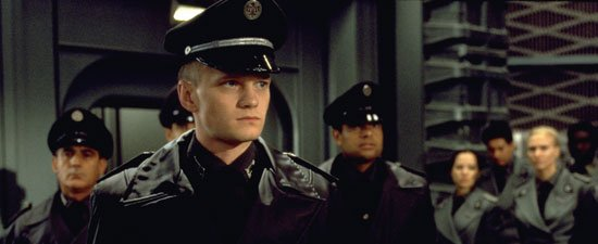 I love the not so subtle Nazi uniforms in Starship Troopers