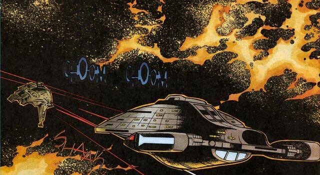 File:Voyager attacks kazon raider.jpg