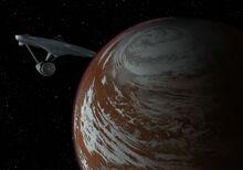 Enterprise orbits Delta Vega