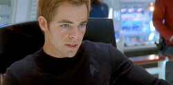 James T. Kirk Chris Pine in the Captain's Chair