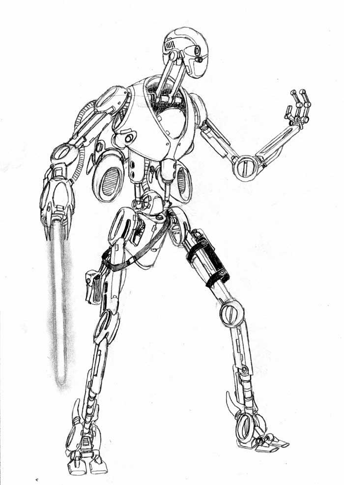 Star Wars Droids Drawing Jedi Assault Droid