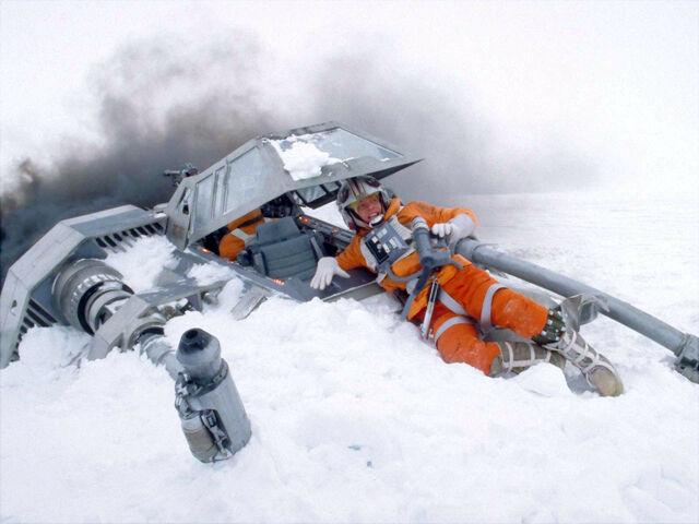 File:Luke crashed snowspeeder.jpg
