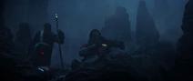 Baze aims his gun on Eadu