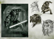 Character sketch jedi by chrisscalf