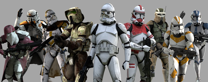 Star Wars The Clone Wars Clone Troopers Phase 2 501st