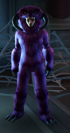 Purple Fur Wampa Suit