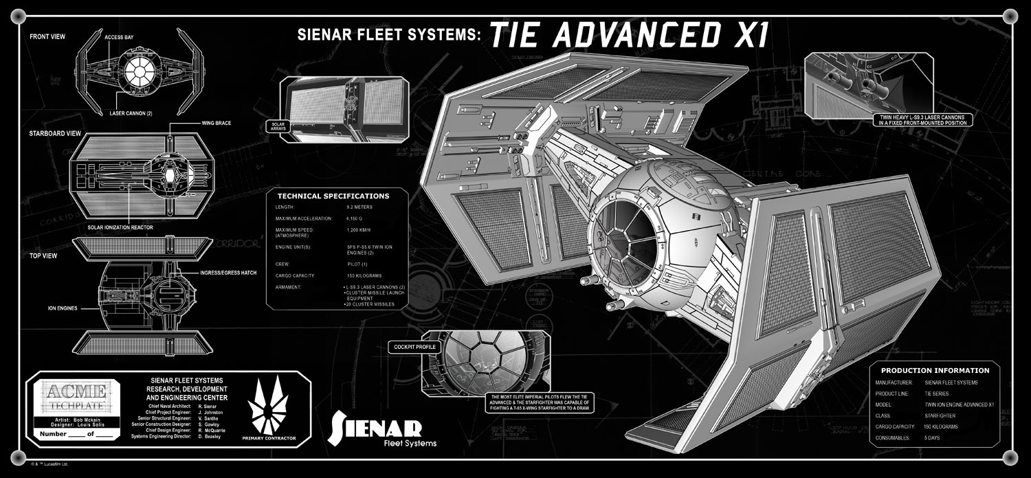 22Vader 27s TIE Fighter 22 TechPlate also File TIE Bomber further  in addition Darth Vader likewise Star Wars At At X Wing Tie Fighter Schematic Tees. on tie fighter schematic