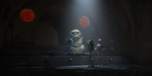 Jabba receives the records