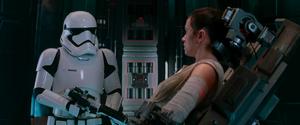 Rey and Stormtrooper