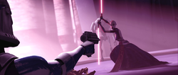 Rex shoots at Ventress