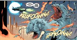 Jedi Starship blasts Leviathans