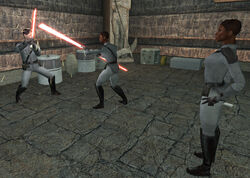 Sith Academy lightsaber training