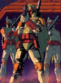 Mandalorians led by Boba Fett