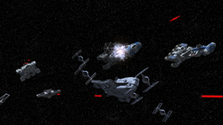 Rebel fleet arrives at Mustafar