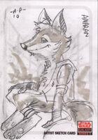 Amaran Galaxy sketch card