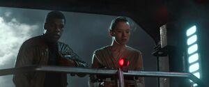 Rey and Finn Watch Kylo Ren and Han