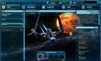 Galactic Starfighter menu