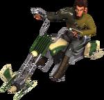 Kanan riding a speeder bike