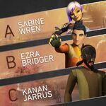New look Kanan,Ezra and Sabine