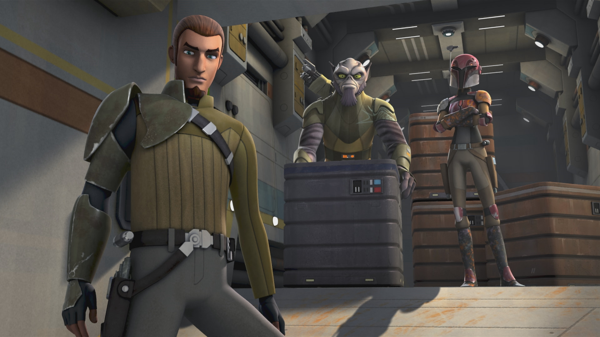 Kanan, the secret Jedi leader of the Rebel group on the Ghost