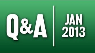 StephenVlog Q&A - January 2013