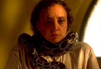 File:Barbara Lang with a snake.jpg